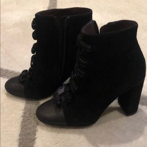 See by Chloe black bow boots